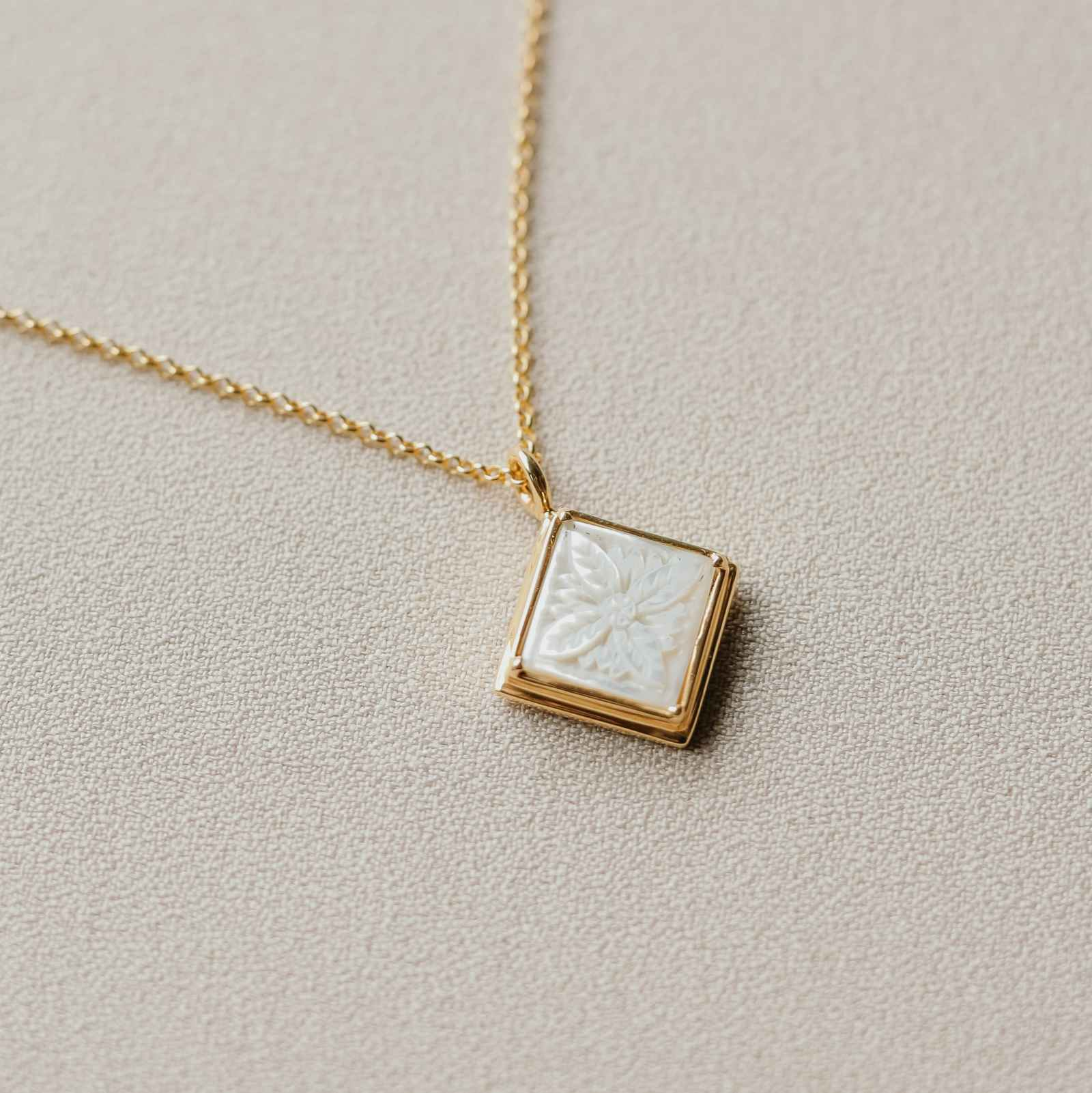 Patra Pendant Square with Mother of Pearl